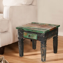 Maine Traditional Solid Wood 1 Drawer Accent End Table