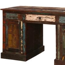 Venus Reclaimed Wood Office Desk with Drawers & Doors