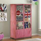 Retro Pop Art Solid Wood Industrial Small Armoire