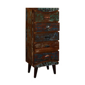 """Rustic Colors Reclaimed Wood Standing 51"""" 5-Drawer Accent Dresser"""