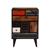 Lenoir Industrial Iron Standing 8 Drawer Accent Chest