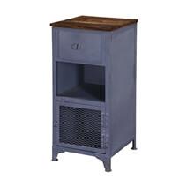 Savannah Trendy Industrial Iron & Mango Wood Accent Cabinet Nightstand