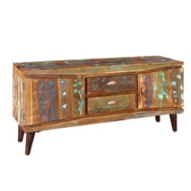 Modern Rustic Reclaimed Wood Accent Media Console Cabinet