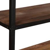 Simply Modern Mango Wood & Iron Freestanding Open Back Shelves