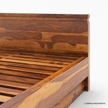 Modern Simplicity Solid Wood Platform Bed Frame