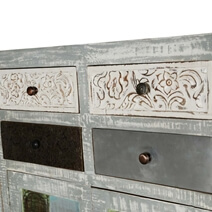 Barada Rustic Mango Wood Handcrafted Large Sideboard Cabinet