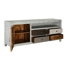 Mexico Sleek Mango Wood 4 Drawers Accent Media Console