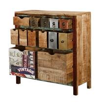 Phoenix Rustic Reclaimed Wood 13 Drawer Dresser Chest