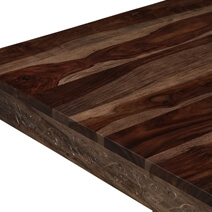 Dallas Midnight 46 Solid Wood Square Pedestal Rustic Coffee Table