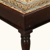 Chicago Traditional Intricate Carved Top Solid Wood Coffee Table