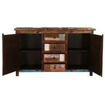 Arizona Rustic Reclaimed Wood 4 Drawer Large Sideboard Cabinet