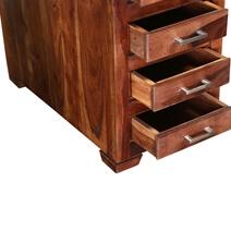 "Modern Pioneer Indian Rosewood 59"" Executive Desk"