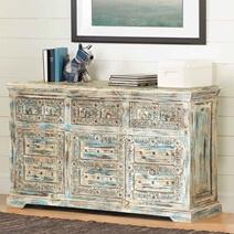 Winter Morning Elizabethan Reclaimed Wood 3 Drawer Rustic Sideboard