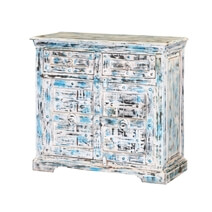 Volente Reclaimed Wood Freestanding 2 Drawer Storage Cabinet