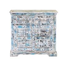 Volente Reclaimed Wood Freestanding 2 Drawer Storage Cabinet