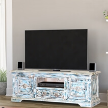 Winter Morning Gothic Reclaimed Wood Rustic TV Media Console