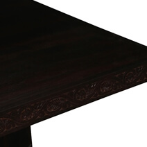 55 Large Rustic Square Coffee Table With Pedestal