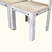 Rehoboth Reclaimed Wood Set-of-two Whitewashed Rustic Dining Chairs
