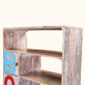 Anaheim Five-Tier Handcrafted Solid Wood Open-Concept Bookcase