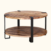 Rustic Industrial 35 Round Coffee Table