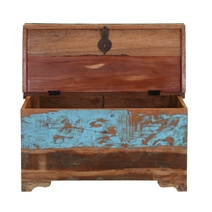 Rustic Reclaimed Wood Coffee Table Storage Trunk