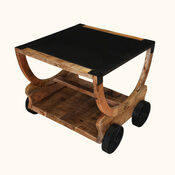 Colorado Handcrafted Solid Wood Coffee Table with Wheels