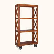 Boulder 3 Shelf Industrial Rolling Bookcase