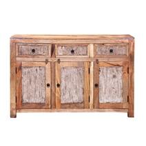 Gatlinburg Handcrafted Rustic Solid Wood 3 Door 3 Drawer Sideboard