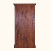 Boone Hand-Carved Reclaimed Wood 3-Shelf Rustic Home Office Bookcase