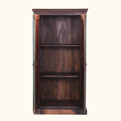 Shaker Frosted Front Solid Mango Wood Armoire With Shelves