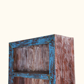 Aurora Distressed 4 Shelf Bookcase with Drawers