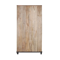 Savannah Handcrafted Solid Wood 2 Door 75 Tall Industrial Wine Bar Cabinet