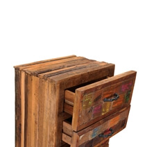 Marfa Handcrafted Reclaimed Wood 6 Drawer Tall Dresser