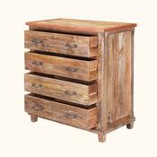 Williamsburg Handcrafted Rustic Solid Wood 4 Drawer Bedroom Dresser