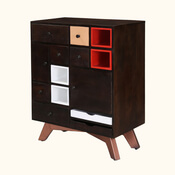 Modern Mango Wood Free Standing Rustic Chest of Drawer