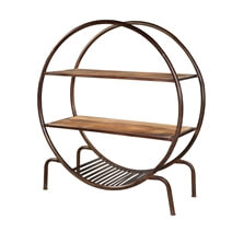Menasha 3 Open Shelf Industrial Round Bookcase