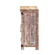 Benson Distressed Mango Wood 2 Drawer Rustic Small Sideboard Cabinet