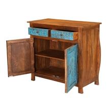 Loren Handcrafted Mango Wood 2 Drawer Rustic Sideboard Cabinet