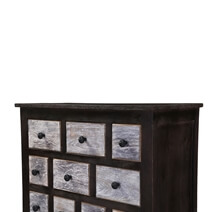 Collectors Classic Mango Wood 10 Drawer Rustic Combo Dresser