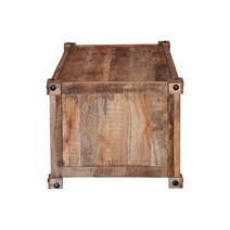 Vail 48 Handcrafted Solid Wood Rustic Coffee Table