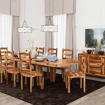 Bluffton Classic Handcrafted Solid Rosewood 10 Piece Dining Room Set
