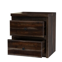 Paganus Modern Simplicity Handcrafted Solid Wood 2 Drawer Nightstand