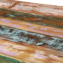 Rainbow 71 Handcrafted Reclaimed Wood Industrial Dining Table