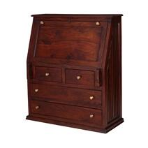 Reardan Handcrafted Solid Wood Drop Front Home Office Secretary Desk