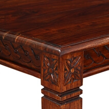 Handcrafted Rustic Solid Wood Square Dinette Dining Table