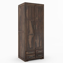 Sierra Nevada Handcrafted Solid Wood 4 Drawer Rustic Armoire Closet