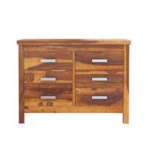 Flagstaff Handcrafted Solid Wood 6 Drawer Bedroom Double Dresser