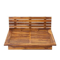 Flagstaff Handcrafted Solid Wood Platform Bed