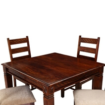Handcrafted Solid Wood 5pc Square Dining Table and Chair Set