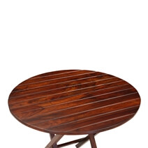 Handcrafted Solid Wood Oval Folding Rustic Restaurant Table